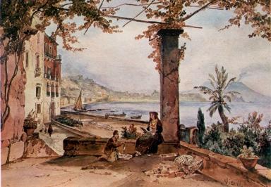 Achille Vianelli 1803-1894-Posillipo