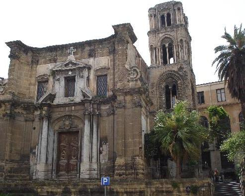 """La-chiesa-di-Santa-Maria-dellAmmiraglio-nota-come-""""la-Martorana""""-fu-fondata-nel-1143-per-volere-di-Giorgio-dAntiochia"""
